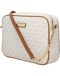 3f5204b07a12 Michael Kors - Crossbody Bag Jet Set Item Lg Women Beige - Lyst