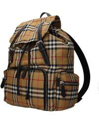 cec4d24943af Burberry Checkered Backpack in Blue for Men - Lyst