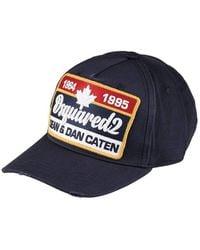 c3d760664bd0fa DSquared² Dean And Dan Caten Baseball Cap in Blue for Men - Lyst