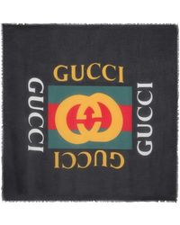 Gucci - Frayed Printed Modal And Silk-blend Scarf - Lyst