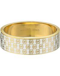 Michael Kors Collection Monogram Hinge Bangle - Lyst
