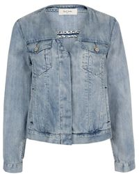Paul Smith Collarless Denim Western Jacket - Lyst