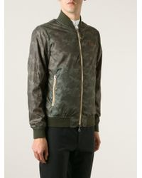 Armani Jeans Reversible Bomber Jacket - Lyst