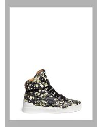 Givenchy 'Tyson' Floral Print Leather Sneakers - Lyst