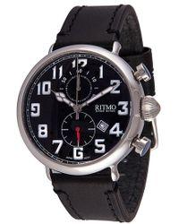 Ritmo Mundo | Chronograph Leather Strap Watch | Lyst