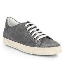 Tod's Sparkle Lace-Up Sneakers - Lyst