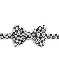 Armani Geometric Print Silk Bow Tie - Lyst