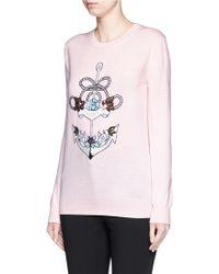 Markus Lupfer | 'anchor' Sequin Embellished Natalie Sweater | Lyst
