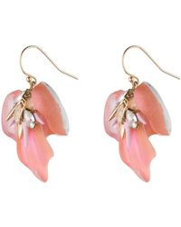Alexis Bittar Desert Jasmine Petal Drop Earring pink - Lyst