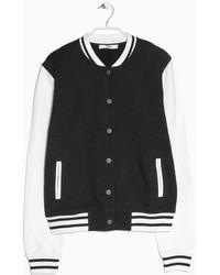 Mango Cotton Varsity Jacket - Lyst