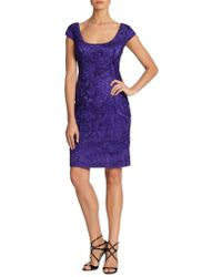 Sue Wong Soutache Embroidered Dress - Lyst