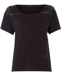 Label Lab Metal Bead Tee - Lyst