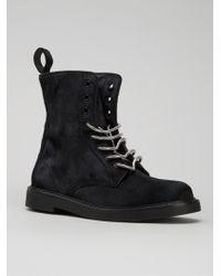 Calvin Klein Combat Boots - Lyst