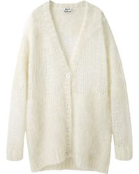 Acne | Ono Oversized Mohair Cardigan | Lyst