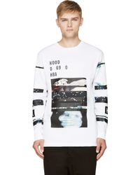 Hood By Air White Layered Graphic T_shirt - Lyst
