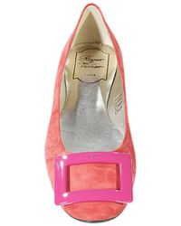 Roger Vivier Shoes Ballet Rubber Sole Suede - Lyst