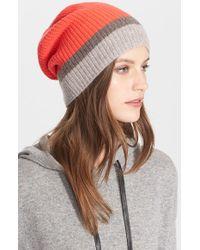 Autumn Cashmere - Colorblock Cashmere Hat - Lyst