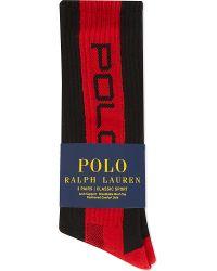 Pink Pony Classic Stripe Sports Socks 3-pairs