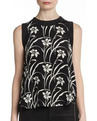 Elizabeth And James Vivi Floral Top - Lyst