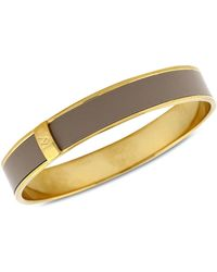 Vince Camuto - Gold-Tone Blush Patent Leather Skinny Bangle - Lyst