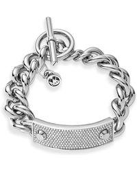 Michael Kors Pave Plaque Toggle Bracelet - Lyst