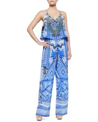 Camilla - A World Between Printed Drawstring Jumpsuit - Lyst