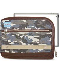 TOMS - Charcoal Camo Canvas Adventure Tablet Case - Lyst