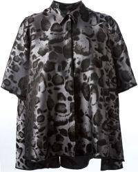 Giambattista Valli Flared Printed Shirt - Lyst