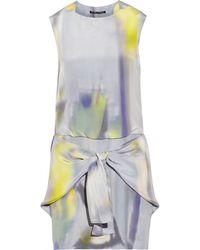 Theyskens' Theory Dinta Printed Silkcharmeuse Mini Dress - Lyst