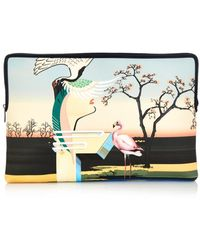 Mary Katrantzou - Flamingo-Print Canvas Document Holder - Lyst