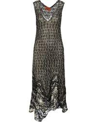Missoni Metallic Crochet-Knit Maxi Dress - Lyst