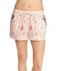 Lucky Brand Print Cotton Lounge Shorts