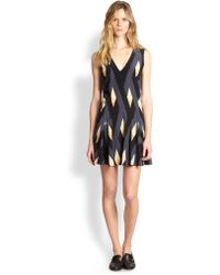 Marc By Marc Jacobs Flame Silk Crepe Shift Dress - Lyst