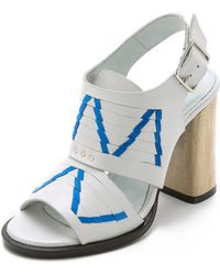 Thakoon Addition - Lizzy Chunky Heel Sandals - Off White/pacific - Lyst