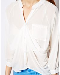 Wal-G - Drape Front Blouse - Lyst