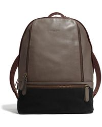 Coach Bleecker Traveler Backpack in Mixed Leather - Lyst