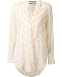 By Malene Birger Striped Tunic - Lyst