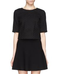 Theory Eyelet Embroidery Crop Top - Lyst