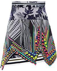 Preen Printed Crepe Aret Skirt - Lyst