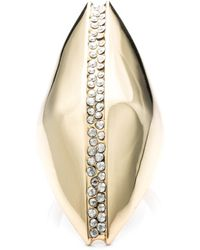 Alexis Bittar Liquid Gold Sculptural Ring black - Lyst