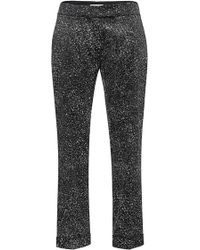 Antonio Berardi Cropped Flecked Pants - Lyst