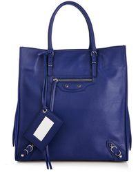 Balenciaga Papier A5 Zip-Around Leather Tote - Lyst