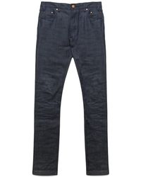 Han Kjobenhavn Lean Fitted Blue Black Selvage Stretch Jeans blue - Lyst