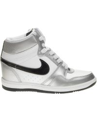 Nike - Wmns Force Sky Hi Black/white - Lyst