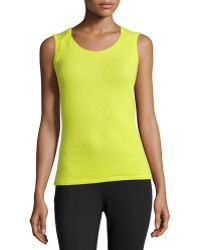 Lafayette 148 New York Cashmere Scoop-neck Shell - Lyst
