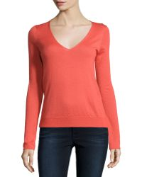 Todd And Duncan - Cashmere Gossamer V-neck Sweater - Lyst