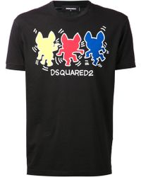 DSquared2 Graphic Shirt - Lyst