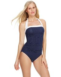 Lauren by Ralph Lauren Harbor Dot Bel Aire One Piece Swimsuit - Lyst