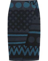 Burberry Prorsum - Wrap-Effect Wool And Cashmere-Blend Skirt - Lyst