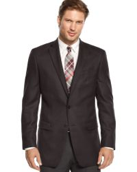 Calvin Klein Herringbone Sport Coat Slim Fit Big and Tall - Lyst